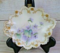 Antique MORITZ ZDEKAUER MZ Austria Leaf-Shaped Cabinet Vanity Tray Candy Dish