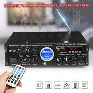 AMPLIFICATORE AUDIO BLUETOOTH 2 CANALI STEREO KARAOKE MP3 RADIO FM HI-FI USB AUX