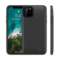 For iPhone 11 Pro Max Backup Battery Case Rechargeable Charging Cover Power Bank