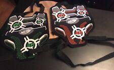 Nerf Dart Tag Lot Of 2 Vests Black Orange Green Target N-Strike