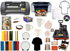 "14"" 500g,Metal Vinyl Cutter Plotter 8in1Combo Heat Press,Printer,Sublimation Kit"