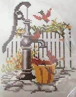 Vintage 1976 Columbia Minerva Cardinals Cross Stitch Picture Complete Kit 6707