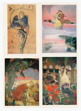 SLAVIC FAIRY TALES ILLUSTRATIONS BY V. VASNETSOV, SET OF 16 RUSSIAN POSTCARDS