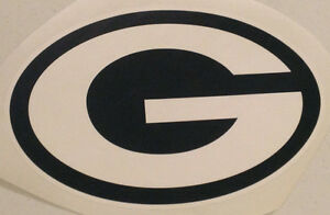 """Green Bay Packers FATHEAD 13.5"""" x 9"""" Official Throwback Team Logo (no yellow)"""