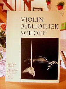 """Georg Philipp Telemann   """"Sechs Menuette""""    Violin Bibliothek Schott"""