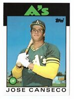 1986 Topps Traded #20T Jose Canseco RC Oakland Athletics