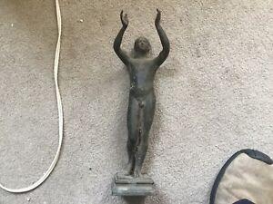 Beautiful High Art Greek Bronze Antique Statue Of a Boy No Reserve