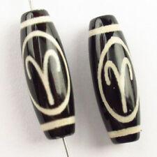 Incrustación de Retro Plata Tibetana Rubí en Fuchsita y Turquesa Colgante Perla NN108