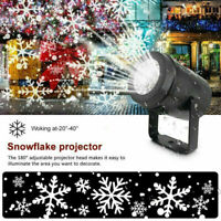 Christmas LED Snowflake Projector Laser Light Lamp Xmas Snow Landscape Decors