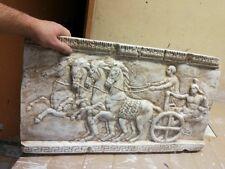 GRIECHISCHER STREITWAGEN RELIEF GRIECHISCHE WANDRELIEF STUCK GIPS FLACHRELIEF