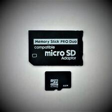 Memory Stick PRO Duo Adapter + 8GB microSD SDHC class 10 für SONY Geräte PSP NEU