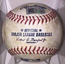 Yadier Molina Career Hit #1500 Game Used Baseball Cardinals MLB COA 7/2/16