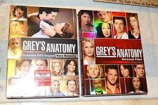 DVD GREY'S ANATOMY SEASON FOUR & FIVE BOX SET 5 & 7 discs GRAY'S