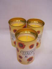 New Prices Citronella Fragrant Lantern Candle 30 Hour Burn Time Pk3