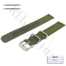 Genuine SEIKO 4K11JZ 18mm Green Nylon Band + Pins | SNK805 Military Watch Strap