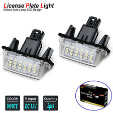 LED License Plate Light Kit 6000K Xenon White Bulbs for 2012-2019 TOYOTA PRIUS C