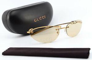 Gucci Sunglasses GG 1776S 577XQ 60-17 125 Metal Gold Lady Oval Cat-Eye c2004