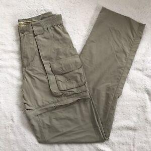 Cabela's Guidewear Zip Off Convertible Pants Shorts WOMENS Sz 6 Unhemmed Nylon