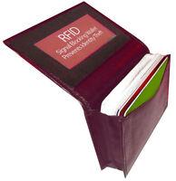 Burgundy RFID Blocking Men's Leather Bifold Wallet 20 Card Holder