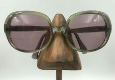 Vintage Sterling Optical CW Auele Gray Oversized Butterfly Sunglasses Italy