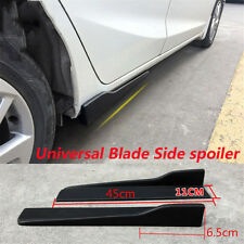 Pair 45cm Car Side Skirt Rocker Splitters Winglet Wings Black
