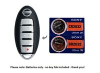 (2) Battery replacement for Nissan remote key fobs Altima Maxima CR2032