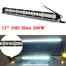 "13"" 200W Led Work Light Bar Spot Flood Combo Off Road Boat Bumper Light Slim 10D"