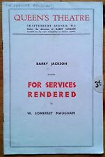 For Services Rendered programme Queen's Theatre 1933 Louise Hampton Flora Robson