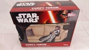 Star Wars Disney Snow Trooper  Comfy Throw Snuggy Blanket with Sleeves. New