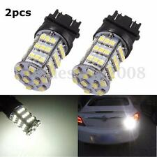 2x 3157 3528 LED 54 SMD White Car Brake Turn Tail Signal Light Bulb Lamp DC12