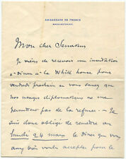 French Diplomat Jules Cambon Autograph Letter Signed