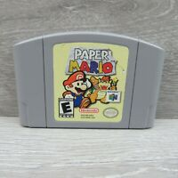Paper Mario Nintendo 64 N64 Authentic Game Cartridge Only Pins Cleaned & Tested