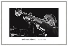 Louis Armstrong Trumpet 24x36 Poster Print Famous Music Jazz Ted Williams Photo