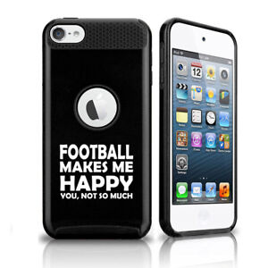 For Apple iPod Touch 5th 6th Shockproof Hard Case Cover Football Makes Me Happy