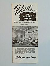 Vintage The Treasure House Near Bellingrath Gardens Theodore Al Brochure