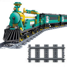 18pcs Straight Train Track Railroad Non-Powered Rail Grey fit for LEGO Block Toy