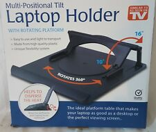 Laptop Table Stand Desk Tray Cooling Holder Adjustable 360° Rotation Swivel Base