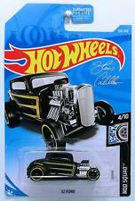 2019 Hot Wheels '32 Ford #105/125 [Black] Rod Squad 1:64 Scale Diecast Car