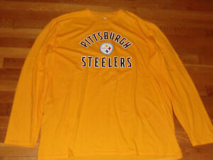NEW FANATICS PITTSBURGH STEELERS LONG SLEEVE GOLD T-SHIRT MENS 2XL