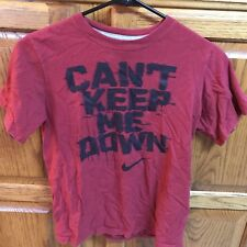Boys Nike Can't Keep Me Down Shirt Red Black YM Youth Medium