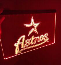 Mlb Houston Astros Led Light Neon Sign for Game Room,Office,Bar, Man Cave.