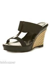 NEW 7 Charles by Charles David Tickle Black Wedge Sandals Heels Shoes So Cute!