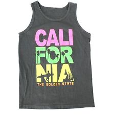 California Sleeveless Muscle Shirt Tank Top Adult Small The Golden State Venice