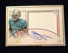 2015 Topps Definitive Devante Parker Framed Rookie Patch Auto #'d 3/25 Dolphins