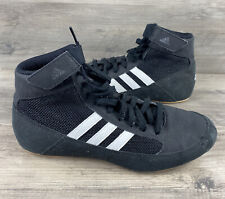 Adidas Men's Wrestling Shoes Black Training Boxing Fitness Sneaker AQ3327 Size 6