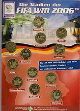 BRD - 12 Medaillen - Stadien der FIFA Fussball WM 2006