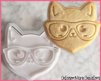 Cat Geek Cookie Cutter Sunglasses Nerd Kawaii Biscuit Baking Supplies Fondant
