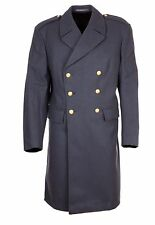 Vintage Wool Military Nordic Air Force Pea Trench Double Breasted Great Coat 42""