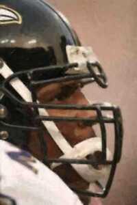 Rar Ray Lewis Baltimore Ravens Oil Style 12x18 Print LE