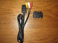TV/Av Audio Video cinch cable para SNES n64 GC + adaptador SCART